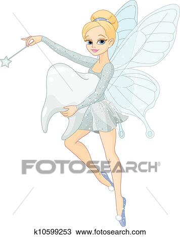 clipart of cute tooth fairy flying with tooth k10599253 search rh fotosearch com tooth fairy clip art free tooth fairy clipart f