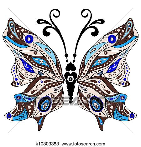 Decorative Fantasy Butterfly Clipart K10803353 Fotosearch