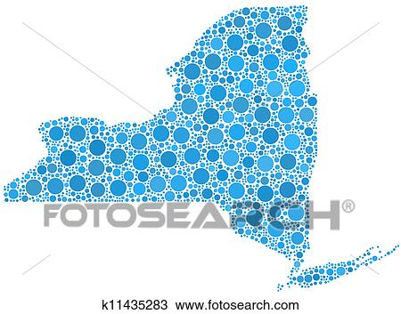 Map Of New York State Usa.Clipart Of Decorative Map Of New York State K11435283 Search Clip