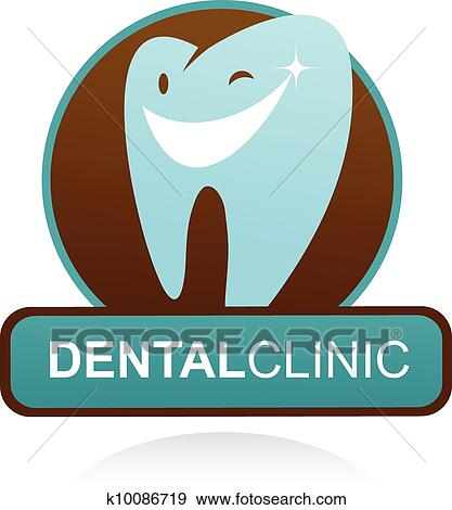 Dental clinic vector icon - smile tooth Clip Art ...