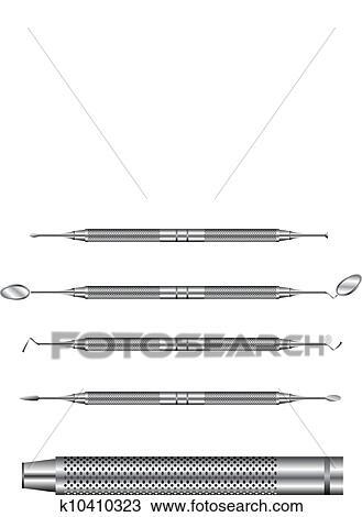 Dental tools vector illustration Clipart | k10410323
