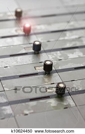 Stock Fotografie Deutsch Bahnhof Steuerung Tisch Licht