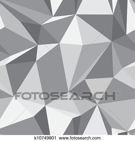 Diamant Seamless Muster Abstrakt Polygon Struktur Clipart