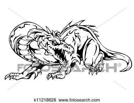 Dessin Dragon Tatouage clipart - dragon, tatouage k11218628 - recherchez des cliparts, des