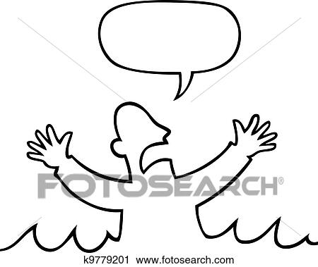 clipart of drowning victim k9779201 search clip art illustration rh fotosearch com drawing clipart black and white drowning clip art free