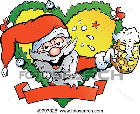 Drunk Santa Claus Cartoon