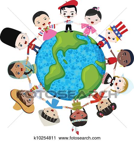 clipart of earth multicultural children k10254811 search clip art rh fotosearch com multicultural clipart black and white multicultural day clipart