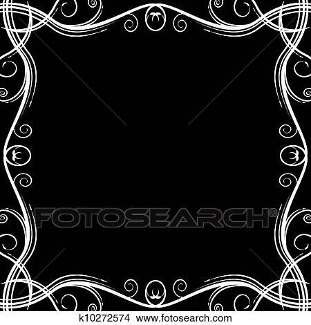 Elegant Wedding Invitation Swirl Background Clipart