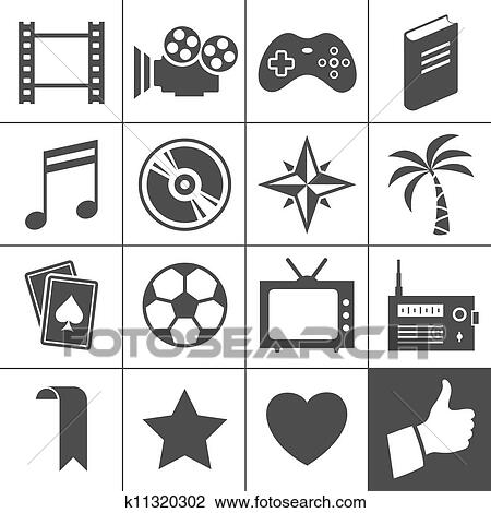 Clipart Of Entertainment Icons Simplus Series K11320302 Search
