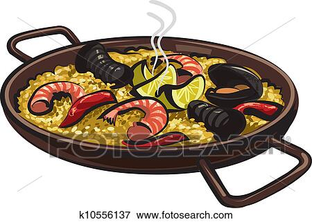 clipart espagnol paella k10556137 recherchez des cliparts des illustrations des dessins. Black Bedroom Furniture Sets. Home Design Ideas