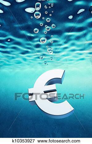 Euro Go Down Stock Ilration