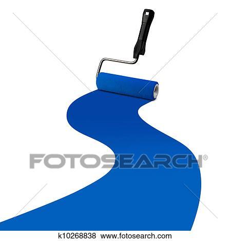 Bilder Farbrolle Blau Farbe Streifen K10268838 Suche