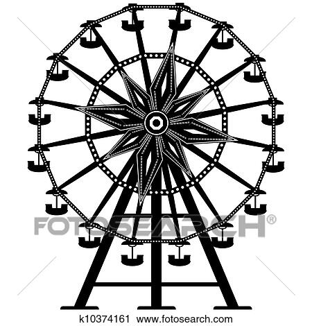 clipart of ferris wheel vector silhouette k10374161 search clip rh fotosearch com ferris wheel clipart black and white ferris wheel clipart free