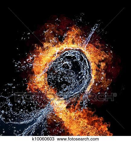 Stock Foto Feuer Und Wasser K10060603 Suche Stock Fotografien