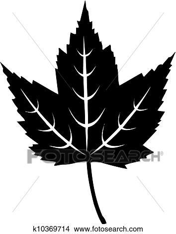 Dessins feuille rable noir blanc k10369714 recherche de clip arts d 39 illustrations et d - Feuille erable dessin ...