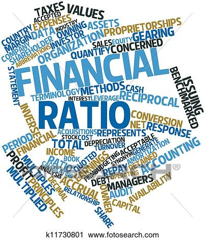 clipart of financial ratio k11730801 search clip art illustration