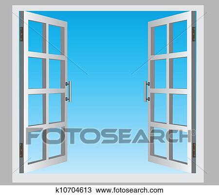 Disegno finestra aperta k10704613 cerca clipart for Disegno di finestra aperta
