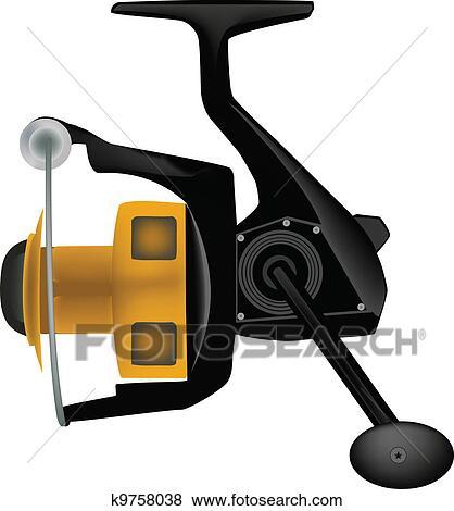 clip art of fishing reel k9758038 search clipart illustration