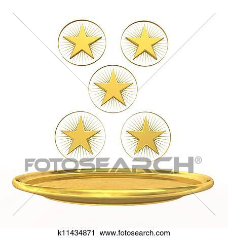 Clipart Of Five Star Chef K11434871 Search Clip Art Illustration