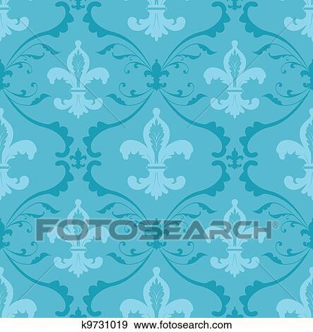 Fleur De Lis Wallpaper Clip Art K9731019 Fotosearch