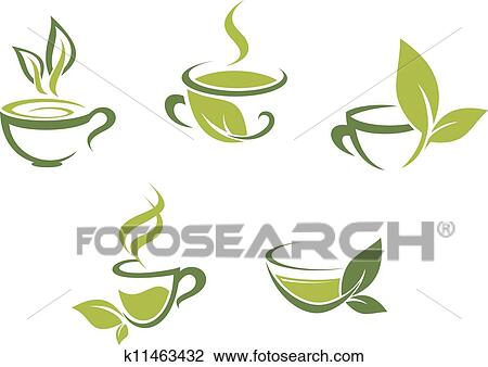 Clipart of fresh tea and green leaves k11463432 search clip art clipart fresh tea and green leaves fotosearch search clip art illustration murals thecheapjerseys Image collections