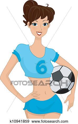 Fussball Madchen Clip Art K10941859 Fotosearch