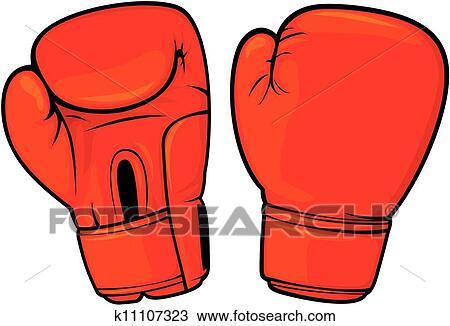 Clipart gants boxe rouges k11107323 recherchez des clip arts des illustrations des dessins - Dessin gant de boxe ...