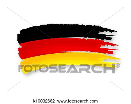 clip art of german flag k10032662 search clipart illustration rh fotosearch com
