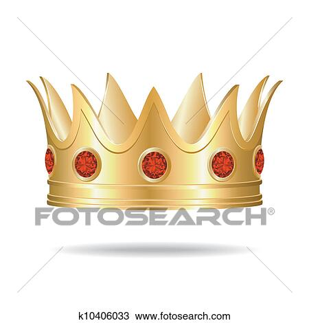 Clipart Of Gold Crown K10406033 Search Clip Art Illustration