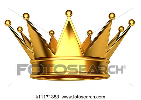 Drawing Of Gold Crown K11171383 Search Clipart Illustration Fine