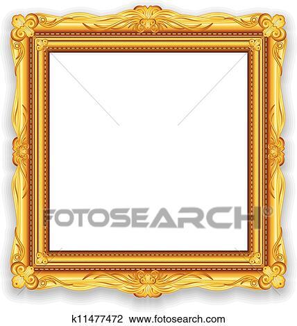 Clipart Of Gold Vintage Frame K11477472