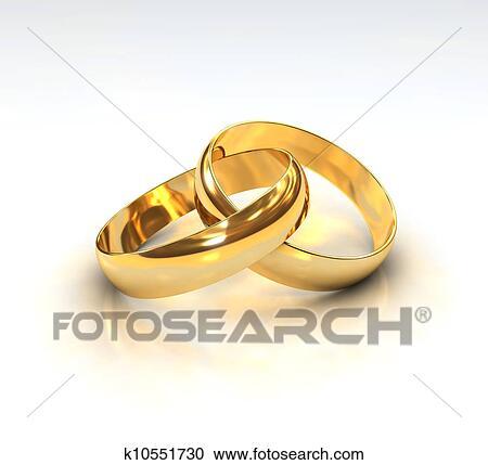Goldene Hochzeit Ringe Clipart K10551730 Fotosearch