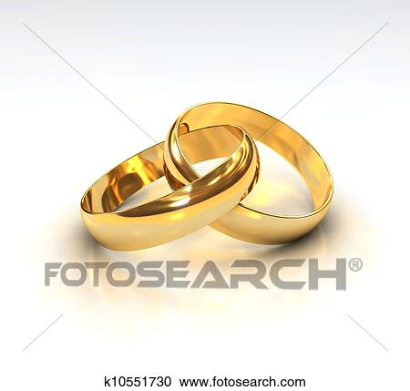 Stock Illustrationen Goldene Hochzeit Ringe K10551730 Suche