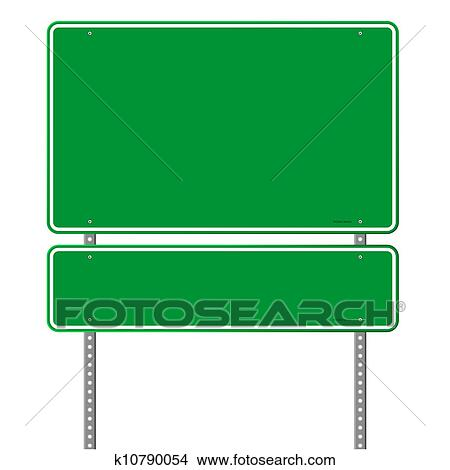 clipart of green blank roadsign k10790054 search clip art