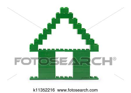Stock Images Of Green Lego House K11352216 Search Stock