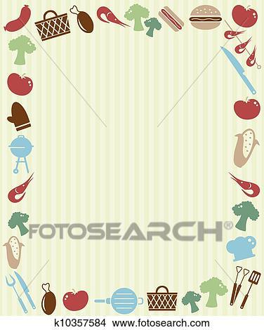 Clipart - grillfest, picknick, einladung k10357584 - Suche Clip Art ...