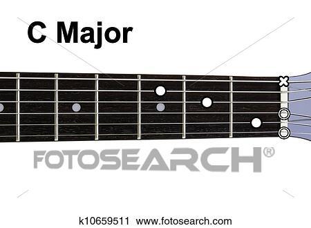 Clipart of Guitar Chords Diagrams - C Major. Guitar chords diagrams ...