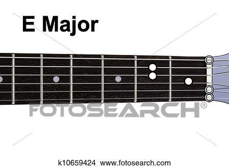 Drawings of Guitar Chords Diagrams - E Major. Guitar chords diagrams ...