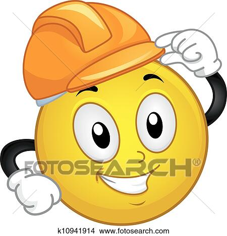 Hard Hat Smiley Clipart K10941914 Fotosearch