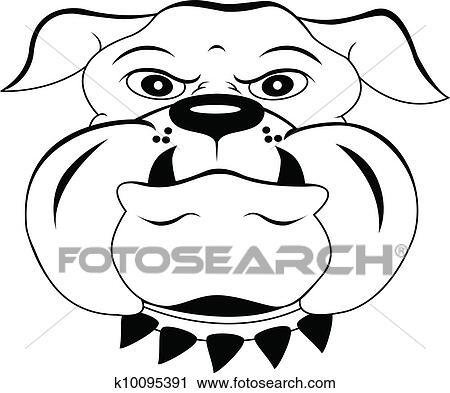Head Dog Cartoon Clipart K10095391 Fotosearch