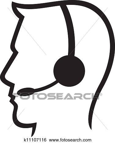 clip art of headset symbol man headset call c k11107116 search rh fotosearch com