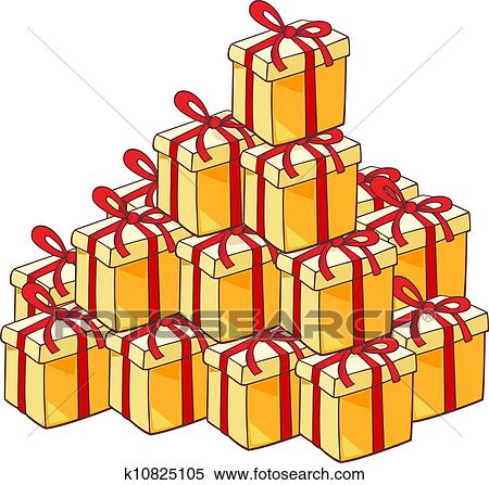 Christmas Presents Clipart.Heap Of Christmas Presents Clipart