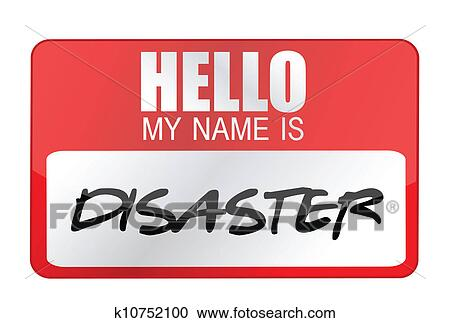 clipart of hello my name is disaster name tag k10752100 search rh fotosearch com name clip art free images name clipart generator