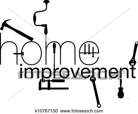 clipart of home improvement vector illustration k10767150 search rh fotosearch com Home Improvement Tools Home Improvement Logo Clip Art