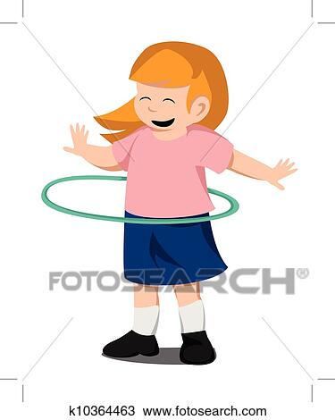 clipart of hula hoop k10364463 search clip art illustration rh fotosearch com hula hoop clipart images girl playing hula hoop clipart