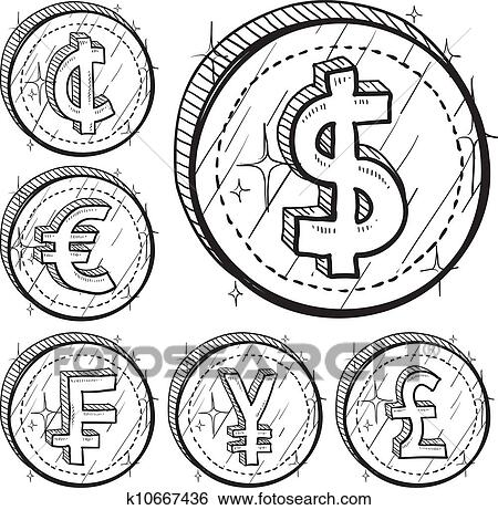Clip Art Of International Currency Symbols K10667436 Search