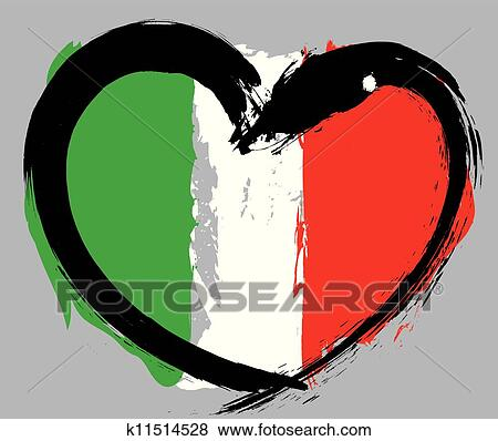 clip art of italy grunge flag k11514528 search clipart rh fotosearch com clipart italy map venice italy clipart