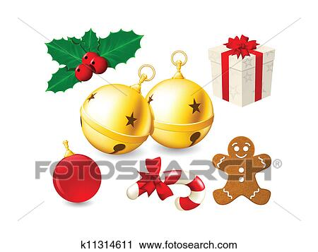 jingle bells and christmas decor clipart k11314611 fotosearch stock photography