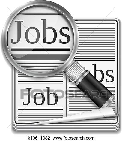clipart of job search concept k10611082 search clip art rh fotosearch com job clipart black and white clipart job interview