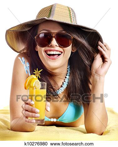 Beach drunk girl